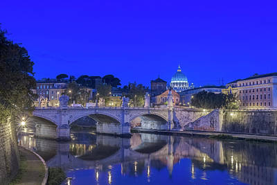Europe, Italy, Rome, Tiber River Poster by Rob Tilley