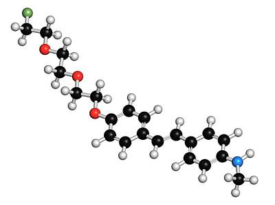 Florbetaben Radiopharmaceutical Molecule Poster by Molekuul