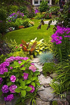 Flower Garden Poster by Elena Elisseeva