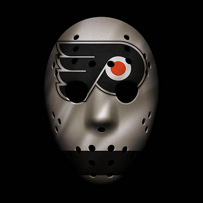 Flyers Jersey Mask Poster by Joe Hamilton
