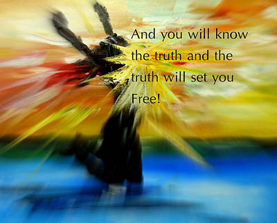 Freedom And Truth Poster by Amanda Dinan