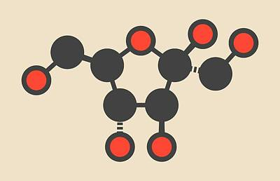 Fructose Fruit Sugar Molecule Poster by Molekuul