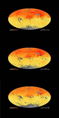 Global Carbon Monoxide Levels Poster by Goddard Space Flight Center/nasa Earth Observatory/jesse Allen/nasa