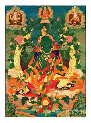 Green Tara 9 Poster by Lanjee Chee