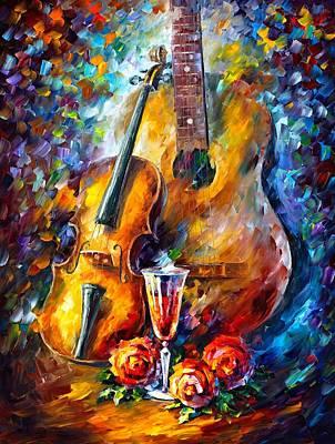 Guitar And Violin Poster by Leonid Afremov