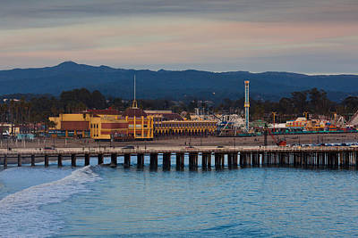 Harbor And Municipal Wharf At Dusk Poster by Panoramic Images