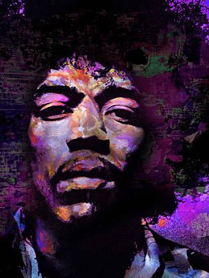 Hendrix Poster by Mal Bray