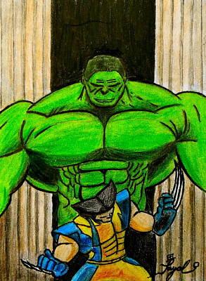 Hulk Vs Wolverine Poster by Artistic Indian Nurse