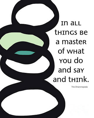In All Things Poster by Linda Woods