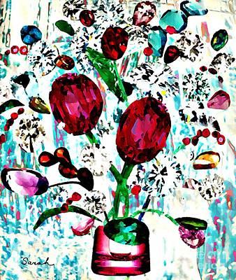 Jewel Bouquet Poster by Sarah Loft