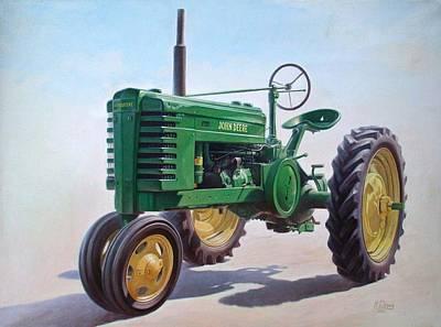 John Deere Tractor Poster by Hans Droog