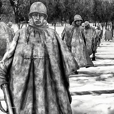 Korean War Memorial Washington Dc Poster by Bob and Nadine Johnston