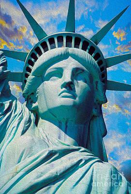 Lady Liberty Poster by Jon Neidert