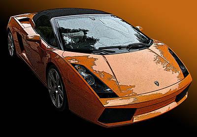 Lamborghini Gallardo Spyder Poster by Samuel Sheats