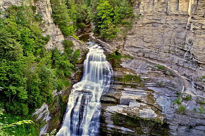 Lucifer Falls  Poster by Frozen in Time Fine Art Photography