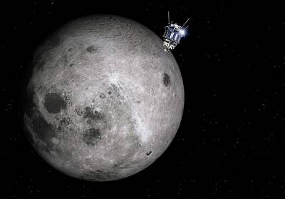 Luna 3 Over The Moon Poster by Detlev Van Ravenswaay