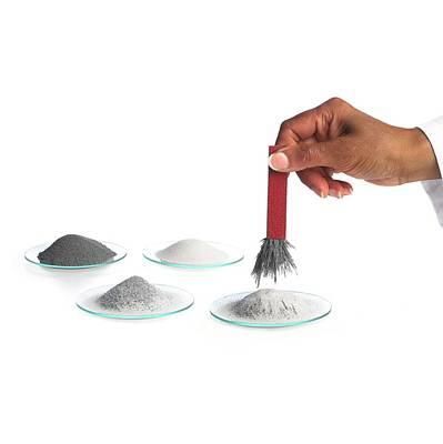 Magnetic Extraction Of Iron Filings Poster by Science Photo Library
