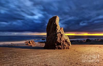 Malibu Beach Rock Poster by Charline Xia