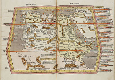 Map Of The Ancient World Poster by British Library