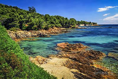 Mediterranean Coast Of French Riviera Poster by Elena Elisseeva