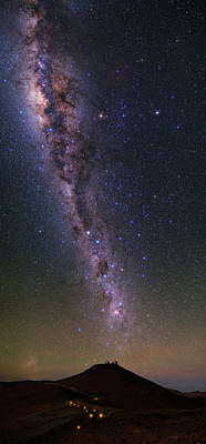 Milky Way Over Paranal Observatory Poster by Babak Tafreshi