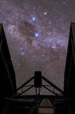 Milky Way Over The Very Large Telescope Poster by Babak Tafreshi
