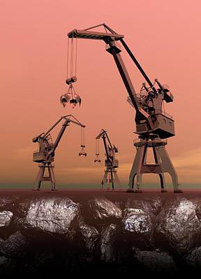 Mining Poster by Victor Habbick Visions