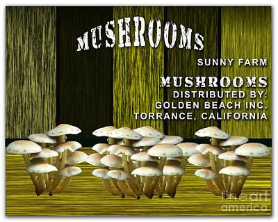 Mushroom Farm Poster by Marvin Blaine