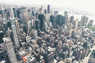 New York City From Above Poster by Vivienne Gucwa