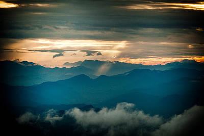 Panaramic Sunset Himalayas Mountain Nepal Poster by Raimond Klavins