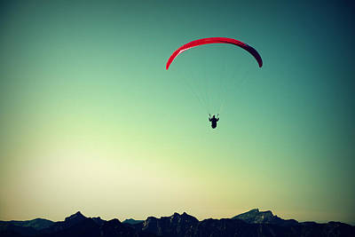 Paraglider Poster by Chevy Fleet