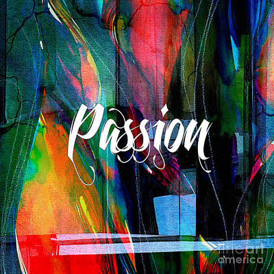 Passion Wall Art Poster by Marvin Blaine