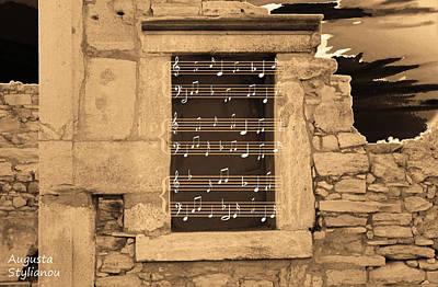 Pentagram Window At Apollo Poster by Augusta Stylianou