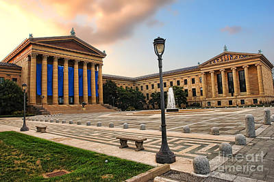 Philadelphia Museum Of Art Poster by Olivier Le Queinec