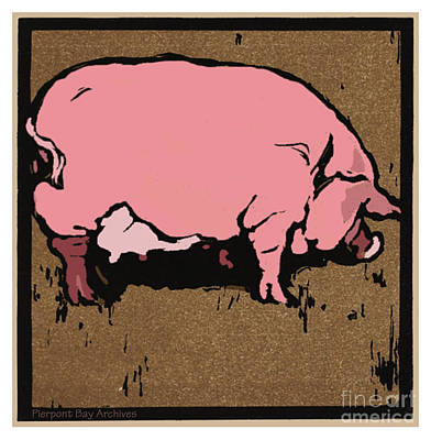 Pig Poster by Pierpont Bay Archives