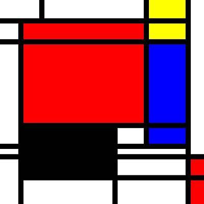 Pop-art Mondriaan Poster by Toppart Sweden