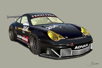 Porsche 996 Gt3 Rsr Poster by Alain Jamar