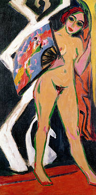 Portrait Of A Woman Poster by Ernst Ludwig Kirchner