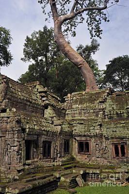 Preah Khantemple At Angkor Wat Poster by Sami Sarkis
