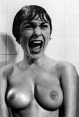 Psycho Shower Fantasy Nude Poster by Jorge Fernandez