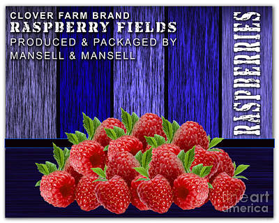 Raspberry Fields Poster by Marvin Blaine