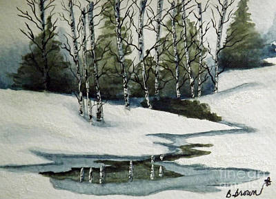 Reflections Of Winter Poster by Brenda Brown