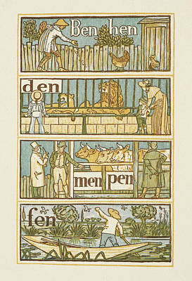Rhyming Words Ending In The Letter N Poster by British Library