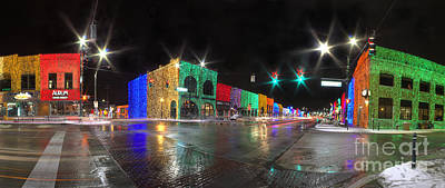 Rochester Michigan Christmas Lights Poster by Twenty Two North Photography