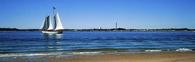 Sailboat In Ocean, Provincetown, Cape Poster by Panoramic Images