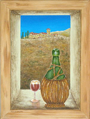 Sicilian View Poster by Pamela Allegretto