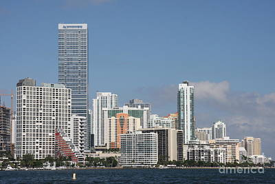 Skyline Miami Poster by Christiane Schulze Art And Photography