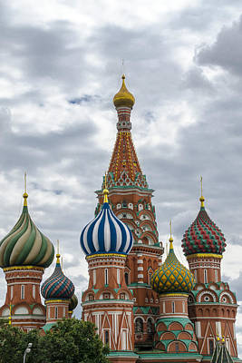 St Basils - Red Square - Moscow Russia Poster by Jon Berghoff