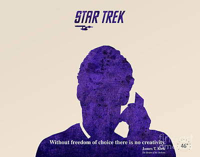 Star Trek Original - Kirk Quote Poster by Pablo Franchi