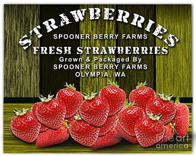 Strawberry Farm Poster by Marvin Blaine